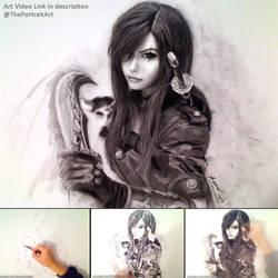 Katarina Charcoal Portrait