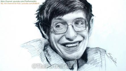 Stephen Hawking Charcoal Portrait Tribute