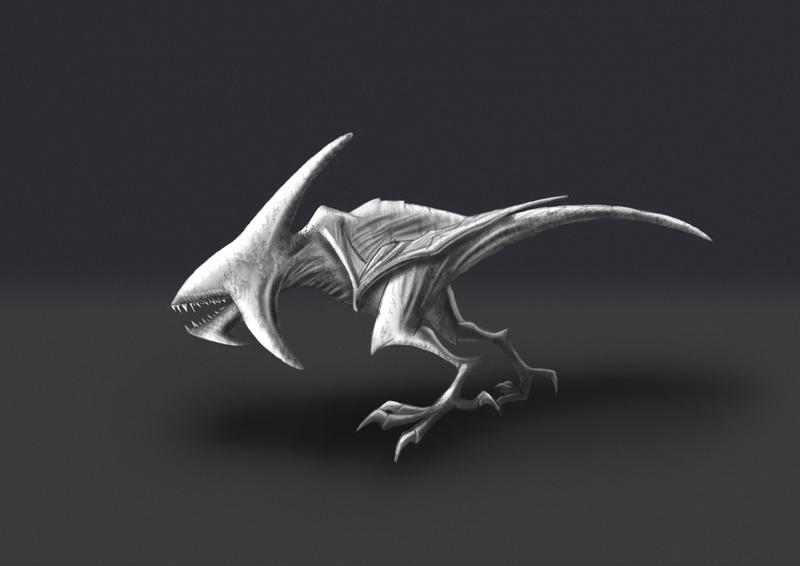 Pitch Black Creature (digital paint) by FeysalAnthonyNair ...