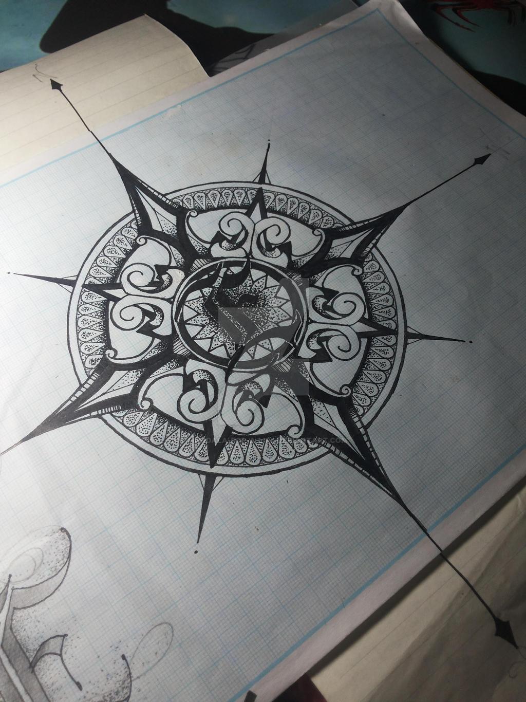Mandala Compass Design