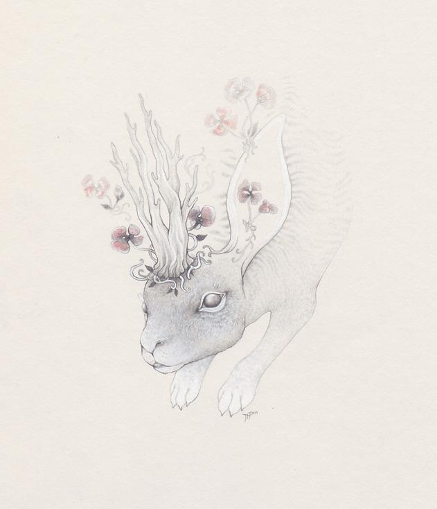 Spring Rabbit by JillHoffman