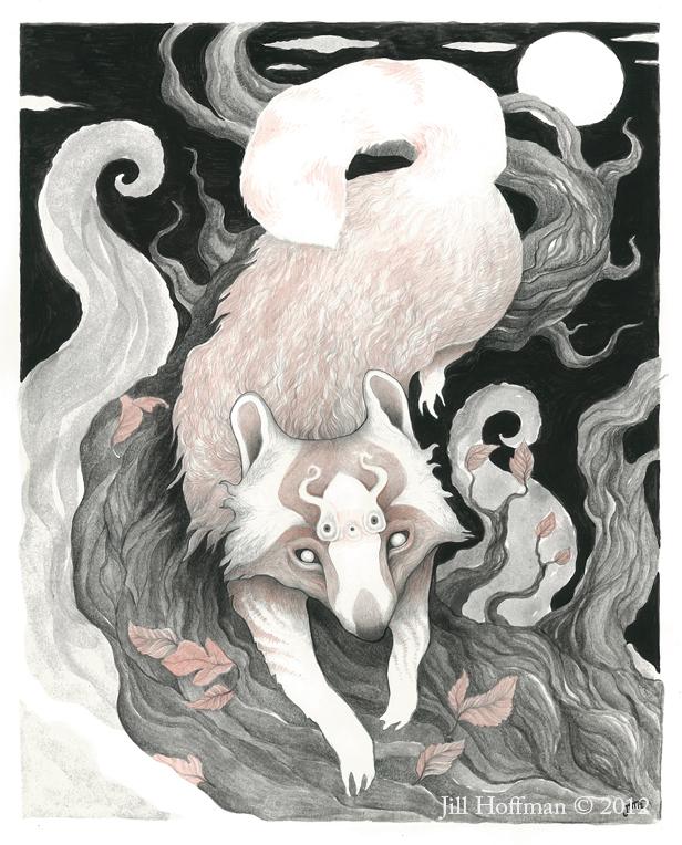 Raccoon Ghost by JillHoffman