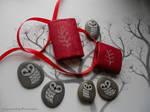 Hand Painted Barn Owl Stones