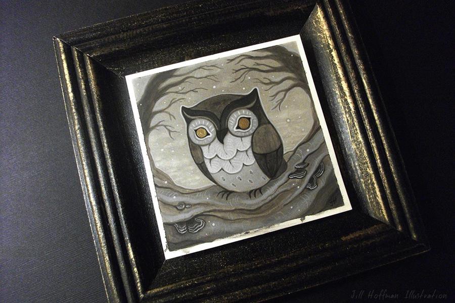 Snowfall owl by JillHoffman