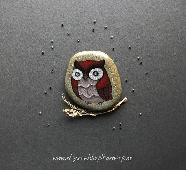 Oxblood owl by JillHoffman
