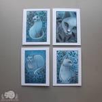 Night Garden / White Cat Cards
