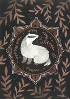 Badger Medallion by JillHoffman