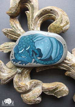 Teal Dragon Stone