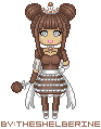 Pixel Babies, Coconut (smallest size) by TheShelberine