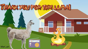 Camping Llama 7-8-2019 by CatKramer