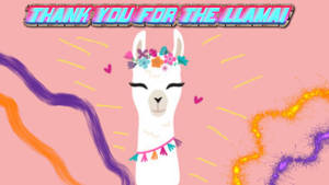Thank you for the Llama 8-2-2019 by CatKramer