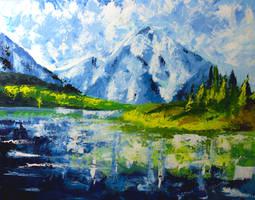 Mountain Lake by Rus-Lev