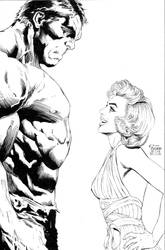 Hulk and Marilyn commission by camadams0925
