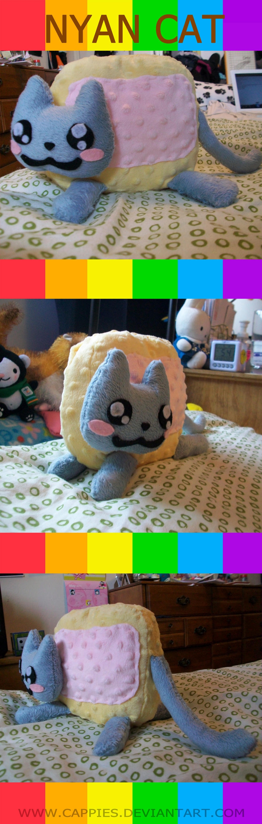 Pop Tart Kitty Plushie by Cappies