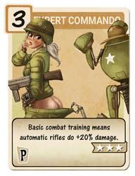 Expert Commando perk card