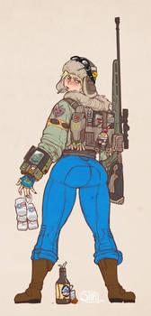 Shia and a backpack
