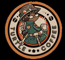 Turtle coffee Distressed