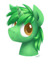 Green pone by Chiramii-chan