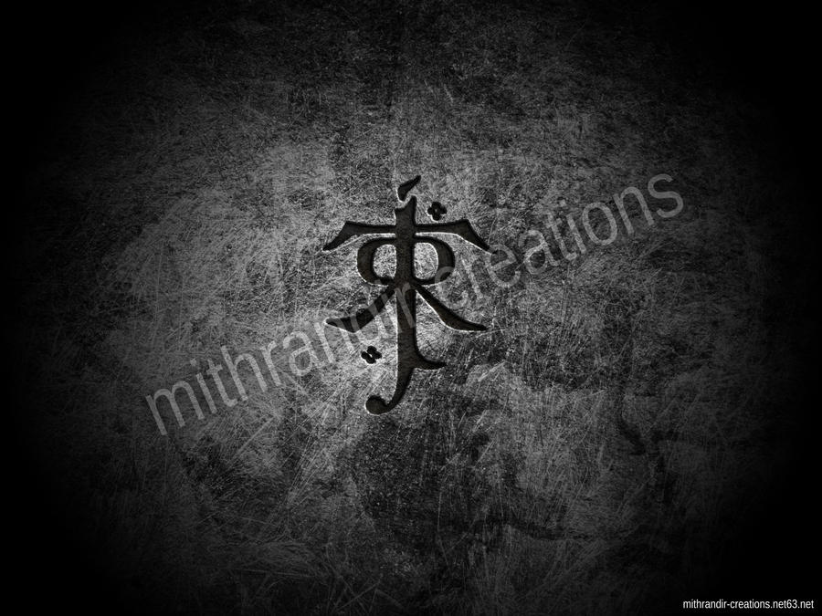 JRRT - Tolkien logo wallpaper by Mithrandir29