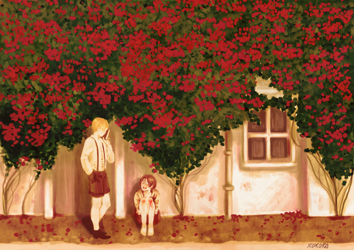 Past's Red Flowers by CristinaKokoro