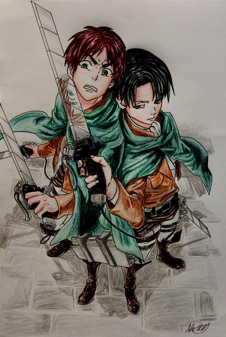 Eren and Levi by KurumiAiren