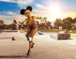 Skate Girl by IsaacLugaliaArts