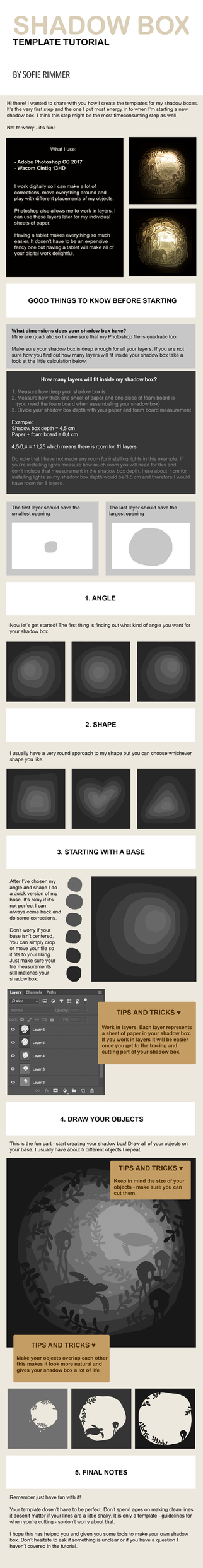 Shadow Box Template Tutorial by sofierimmer