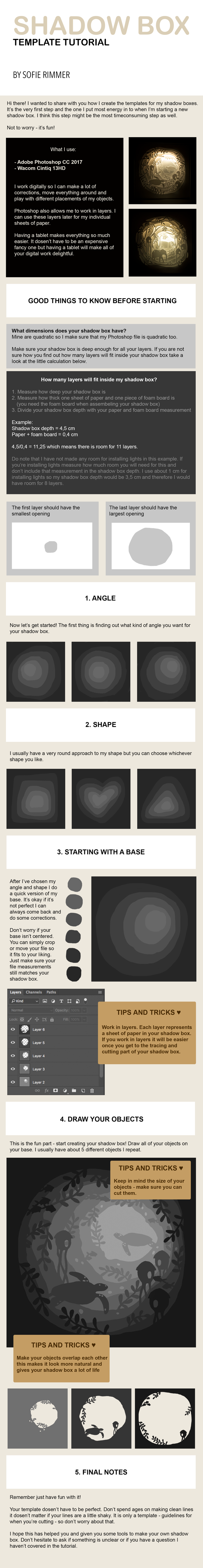 shadow box template tutorial by sofierimmer on deviantart