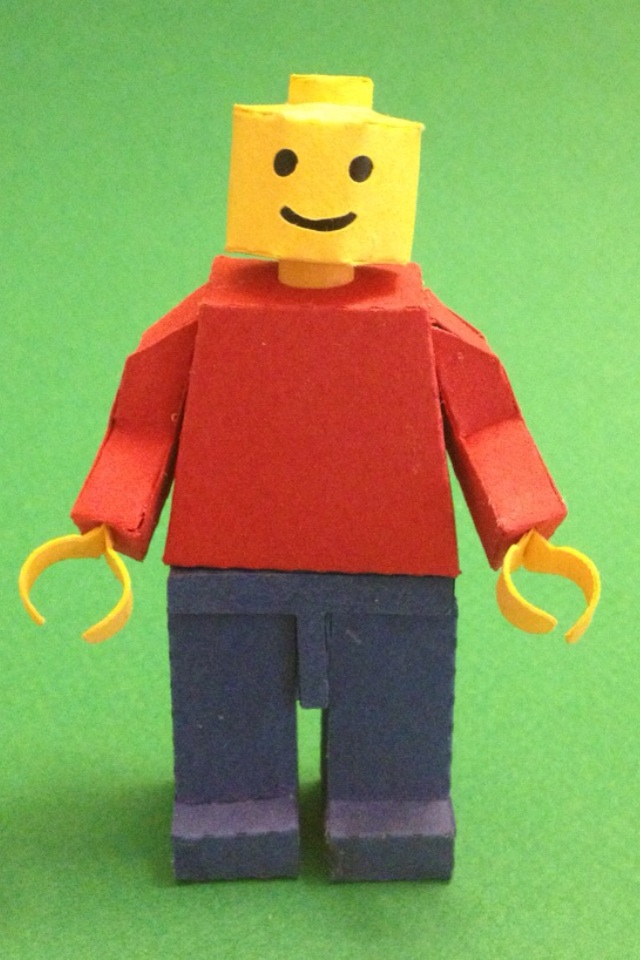 Paper LEGO minifigure by kspudw on DeviantArt