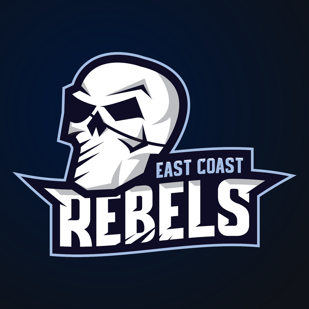 east coast rebels esports style logo design by retrore