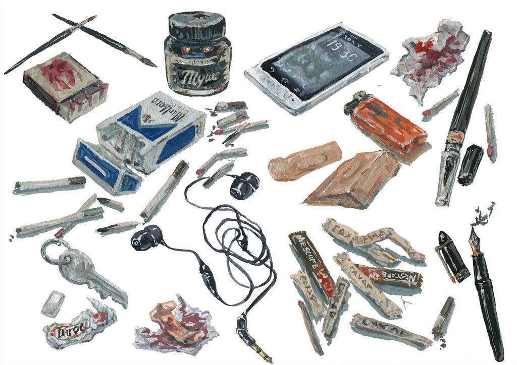 stuff in sasha's bag by lennigen
