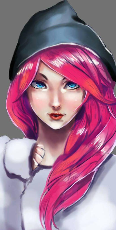 pretty pink  by shadowtoon