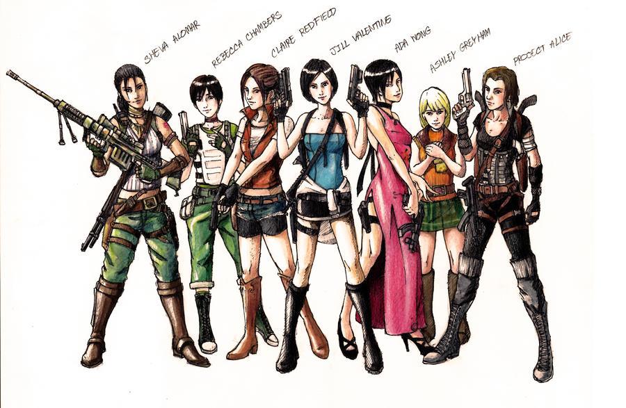 Resident Evil Girls by SRIJUGAWAN