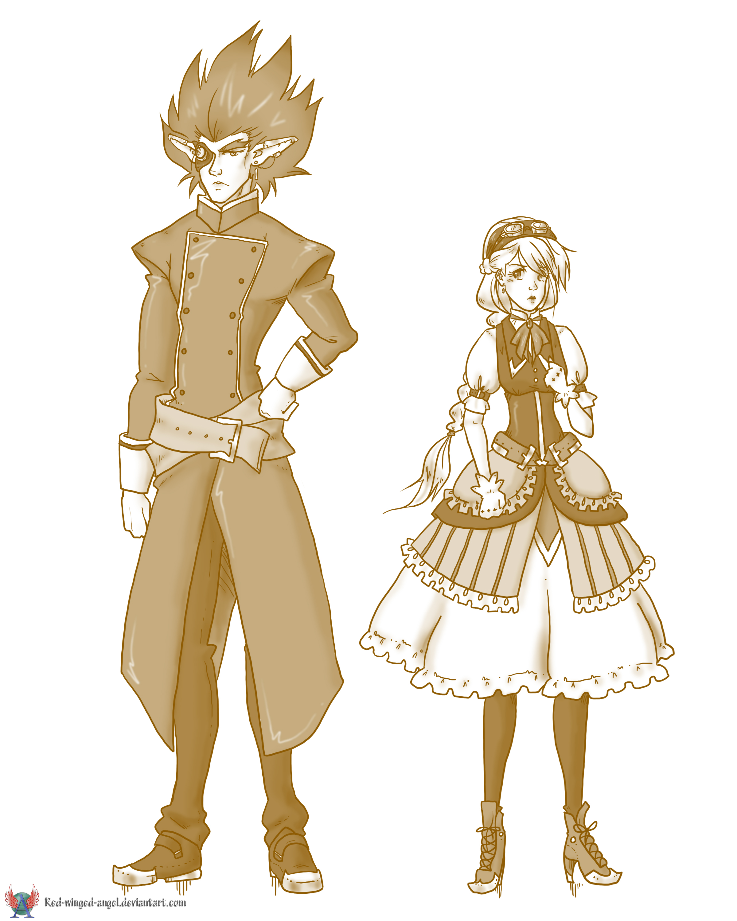 OTP 15 Different Clothing Style (Steampunk) by red-winged-angel on DeviantArt