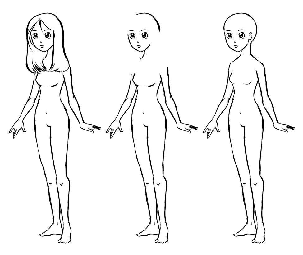 Chibi Female Body Template Lektonfo