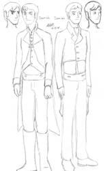 F:SaF - Derrick and Damian profile sketch