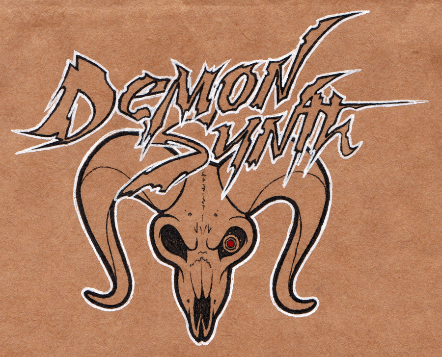 DemonSynth Badge WIP by LaughingSquid