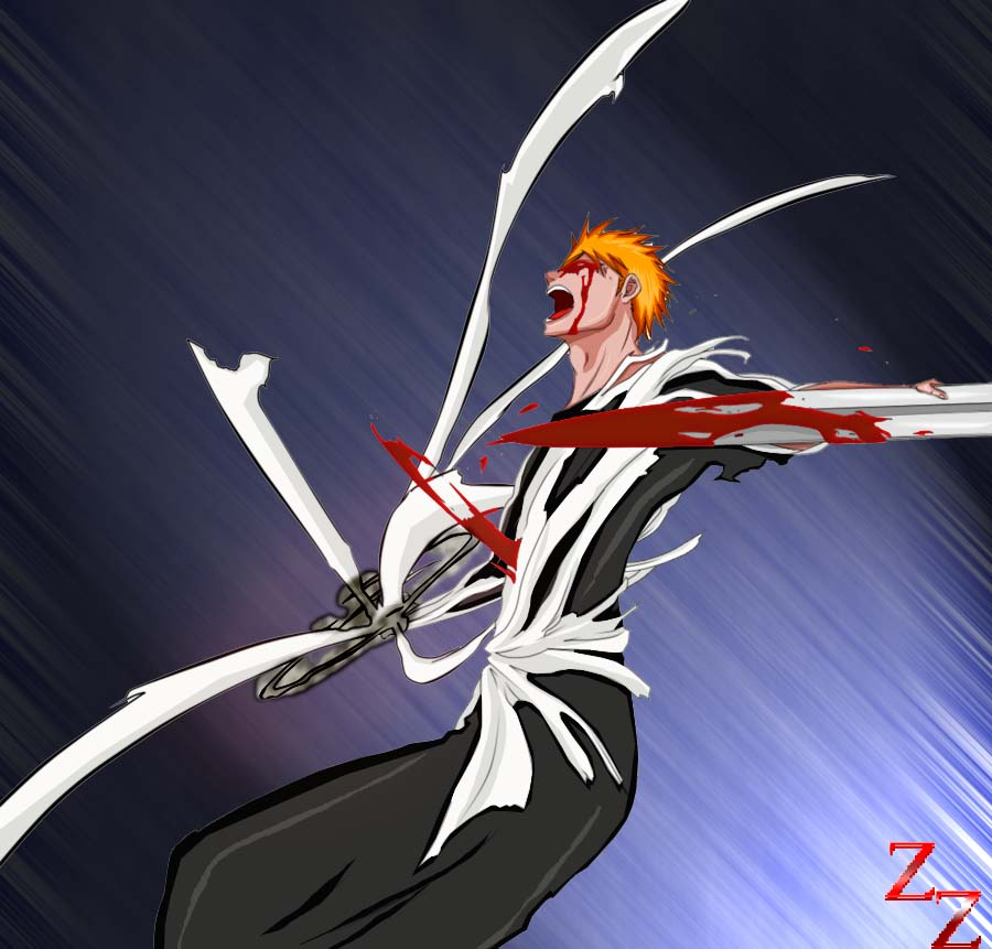 how to draw ichigo bankai sword