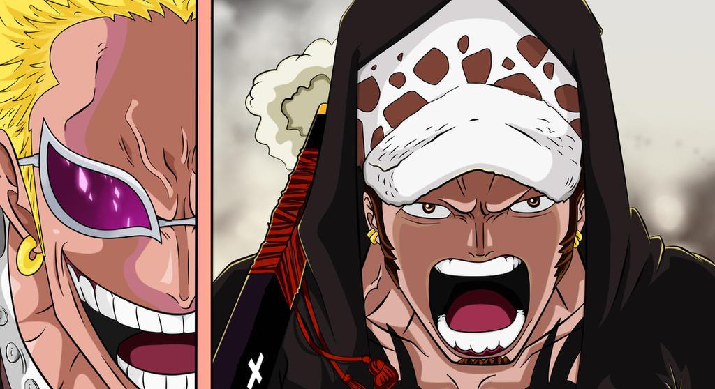 One Piece 713 - Doflamingo vs Law by Salty-art