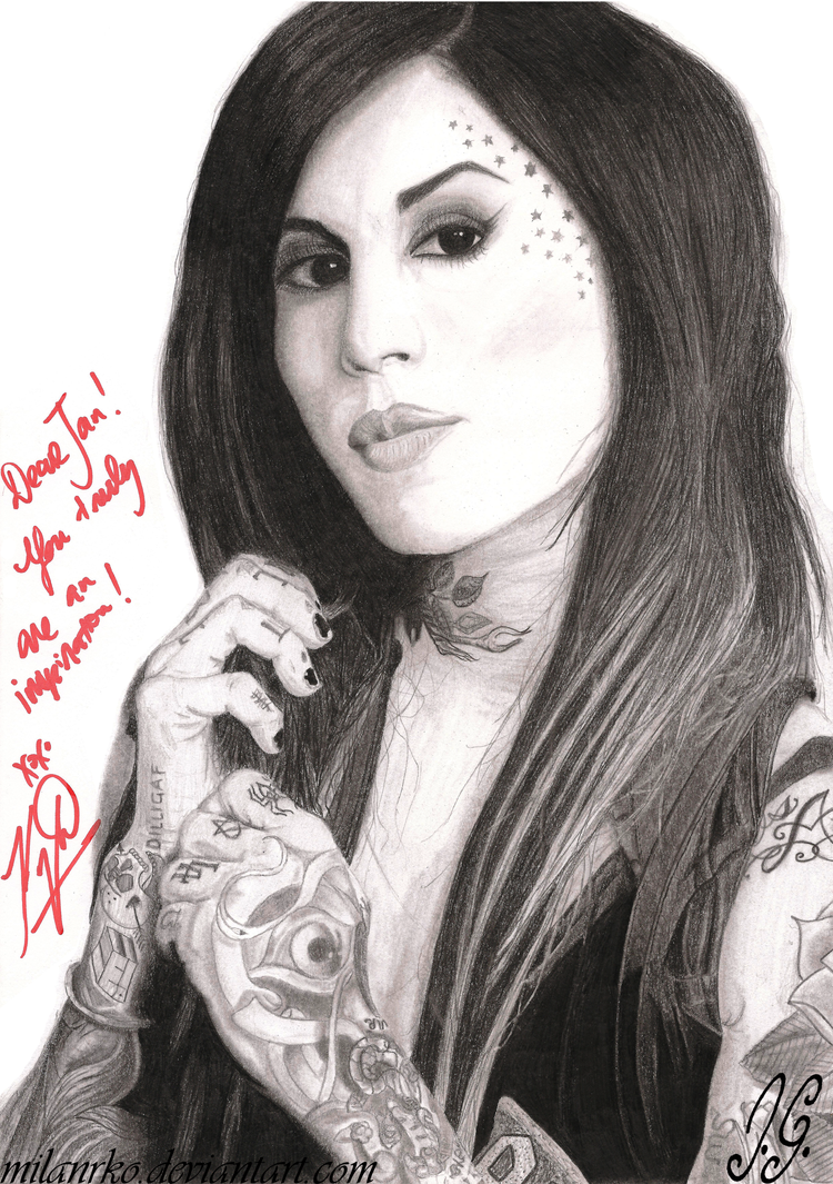 Kat von d pencil drawing signed by milanrko