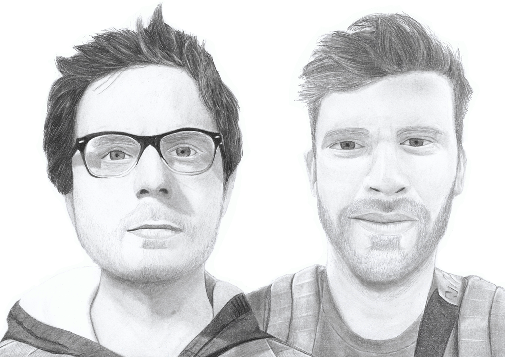 Drew Steen and Kit Nolan pencil drawing by MilanRKO