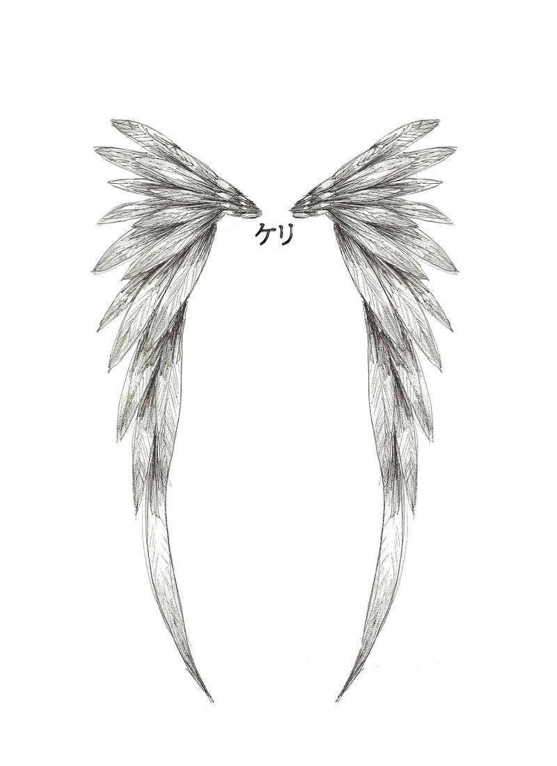 angel wing tattoo design by childofthenocht on deviantart. Black Bedroom Furniture Sets. Home Design Ideas