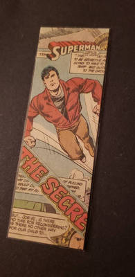 Man of Steel Collaged Bookmark