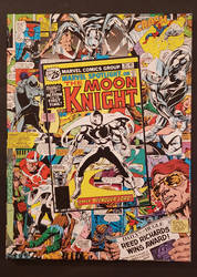 Moon Knight Comic Collage