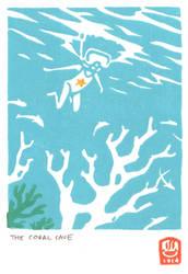 Underwater - Handmade print by Uehara