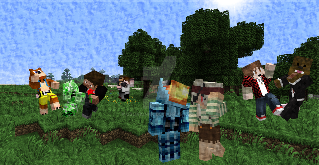 Minecraft Youtubers Wallpaper By Oblivionnx