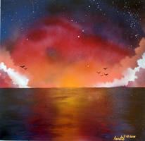 Sunset Flight by A-Bright-Idea
