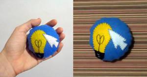 Bright Idea Cutiemark Mini-pillow by A-Bright-Idea