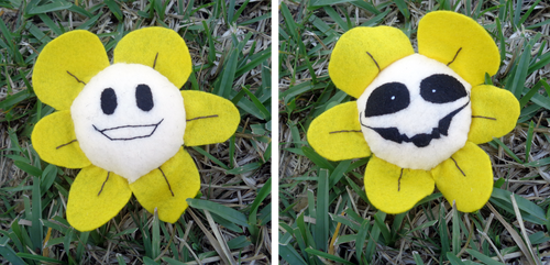 Flowey Plushy (Double-sided) by A-Bright-Idea