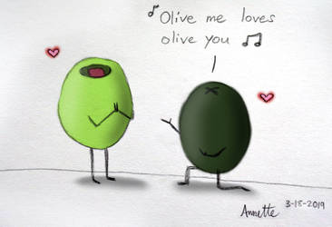 Olive me loves olive you by A-Bright-Idea